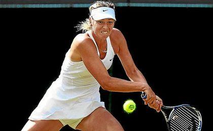 Sharapova, en un partido de Wimbledon.