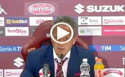 Sinisa Mihajovic habl� en rueda de prensa sobre el trabajo de los futbolistas.