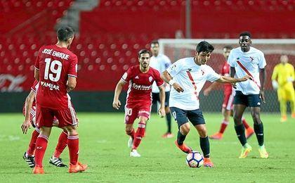 El Sevilla Atl�tico ha logrado un gran triunfo.