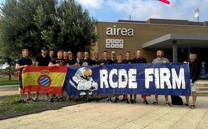 Miembros del grupo ultra RCDE Espanyol.
