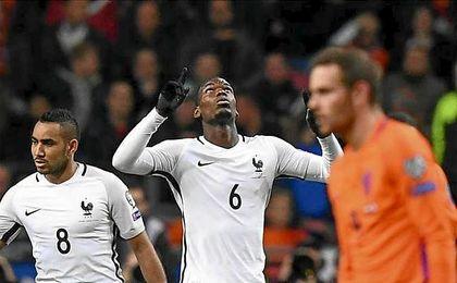 El tanto de Pogba dio la victoria a Francia frente a Holanda.