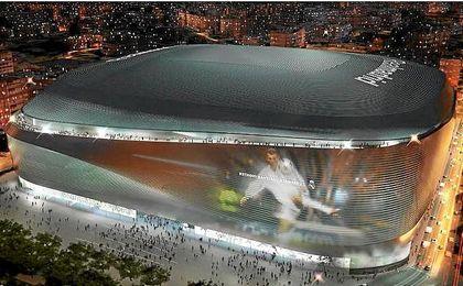 El Santiago Bernabéu presentará este aspecto tras la remodelación.