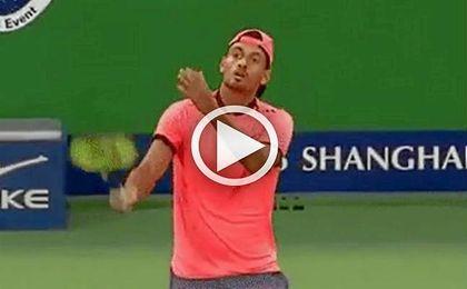El australiano ha vuelto a mostrar su cara m�s oscura en una pista de tenis.