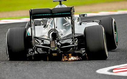 El l�der del Mundial de F�rmula 1 estuvo al volante de un Mercedes W06.