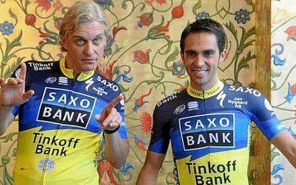 Tinkov y Contador cuando aún se soportaban.