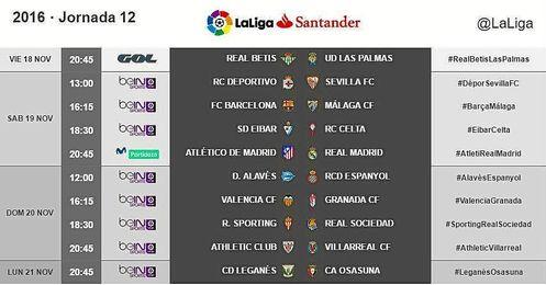 Vuelta al viernes del Betis en la jornada 12