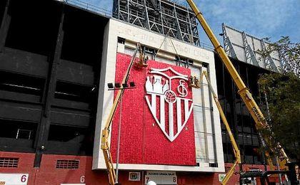 Aspecto del nuevo mosaico que se está instalando en Gol Sur.
