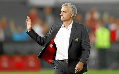 Mourinho, en un partido de Europa League.