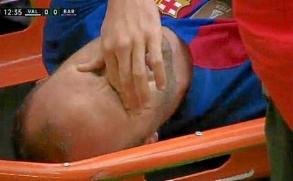 Al llegar a Barcelona el jugador será sometido a más pruebas para saber el alcance exacto de la lesión.