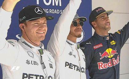 Hamilton, Rosberg y Ricciardo, los más rápidos en la clasificación del Gran Premio de Estados Unidos.