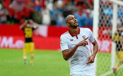 """""""Estoy contento con el gol, pero lo importante son los tres puntos"""", aseguró el francés tras el partido."""