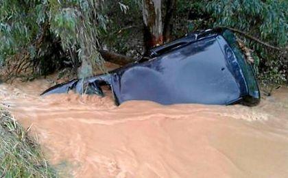 La zona del Barranco de Dos Hermanas se vio especialmente afectada por las lluvias el pasado sábado.