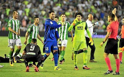Del Cerro Grande privó de un penalti al Betis en el partido contra el Granada.