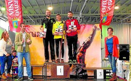 Imagen del podio masculino de la VII edición del Trail de Turdetania, celebrado el pasado domingo.