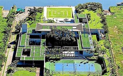 Imagen aérea de la nueva mansión de Neymar.