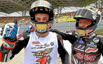 Johann Zarco celebra su segundo título de Moto2.