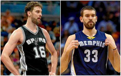 Los Gasol firman dos ´doble-dobles´ vitales para Spurs y Grizzlies.