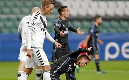 Cristiano Ronaldo volvió a mostrarse desacertado