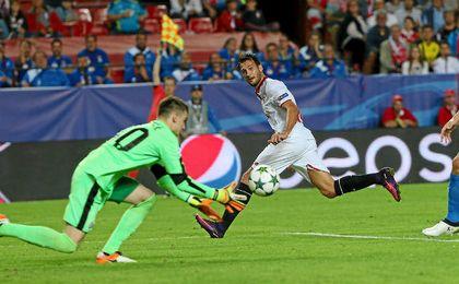 El ´Mudo´ Vázquez, ante el Dinamo.