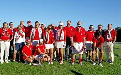 Parte del equipo del Sevilla F.C.