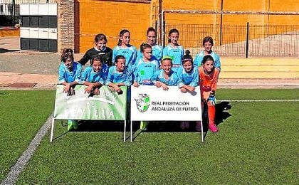 Hasta 180 jugadoras se dieron cita en la jornada vivida en Alcolea del Río.