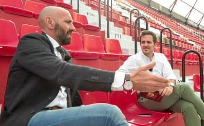 Monchi, durante su entrevista en el Sánchez Pizjuán.