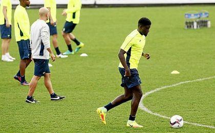 El exbético Alfred N´Diaye, durante un entrenamiento del Villarreal, su actual equipo.