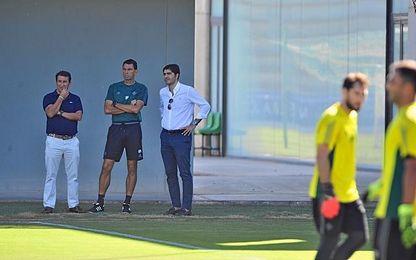 Poyet, con Haro y Catalán, en una foto de archivo.
