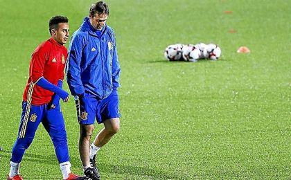 Al centrocampista le alaga que lo comparen con Xavi.