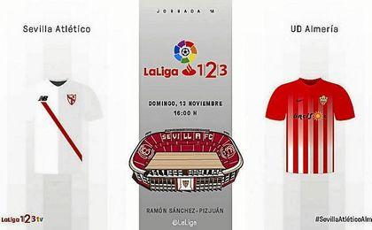 Sevilla Atlético-Almería: Síguelo en directo.