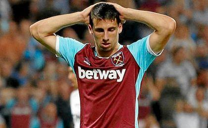 Jonathan Calleri, una de las opciones, no ha tenido un desembarco fácil en el West Ham.