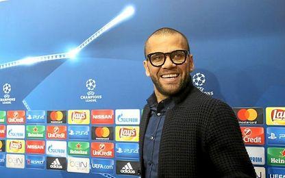Alves, en sala de prensa.