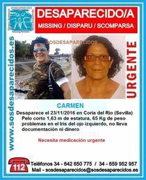 En paradero desconocido una vecina de Coria de 57 años.