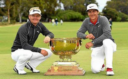 Los daneses Soren Kjeldsen y Thorbjorn Olesen, primeros campeones mundiales de golf.