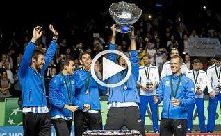 Del Potro, tras ganar la Copa Davis: ´Esto es lo mejor de mi carrera´