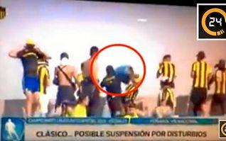 (Vídeo) Peligra el torneo uruguayo tras incidentes violentos del clásico