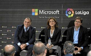 LaLiga y Microsoft se asocian para usar tecnología con aficionados y clubes
