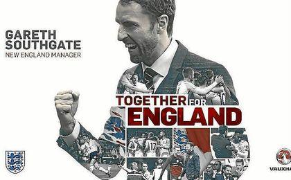 Southgate, confirmado como seleccionador inglés hasta 2020.