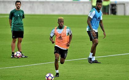 Charly Musonda, durante un entrenamiento.