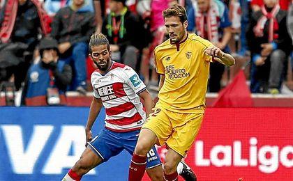 Franco Vázquez, en un lance del partido ante el Granada.