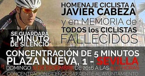 Homenaje ciclista a Javier Cabeza