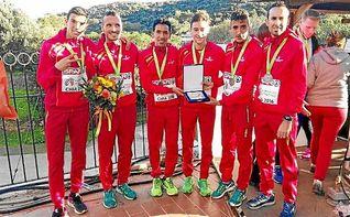 El equipo español masculino, plata en el Europeo de cross de Chia
