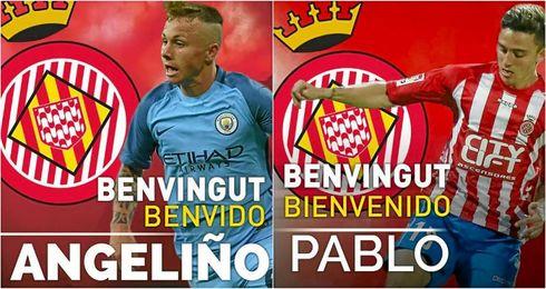 El Manchester City cede a Maffeo y Angeliño al Girona.