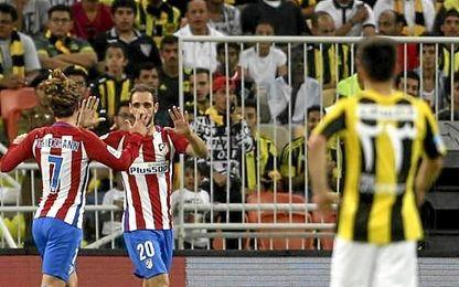 Juanfran anotó el primer gol del choque.