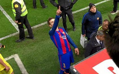 Piqué, entre Mourinho y Gaspart