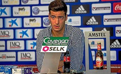 Mikel Merino, en su despedido de Osasuna.