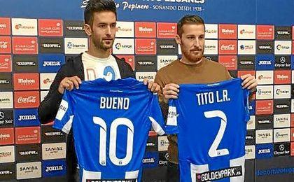 Presentación de Bueno y Tito con el Leganés.
