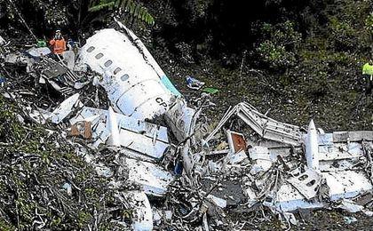 Accidente aéreo que sufrió el Chapecoense.