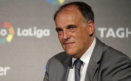 El presidente de LaLiga, Javier Tebas, UESyndication.