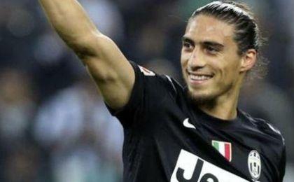 Martín Cáceres, en un partido con la Juventus.